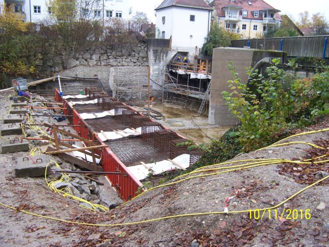 Bau + Plan Ingenieurgesellschaft mbH – Stadtwehr Erding Baugrube