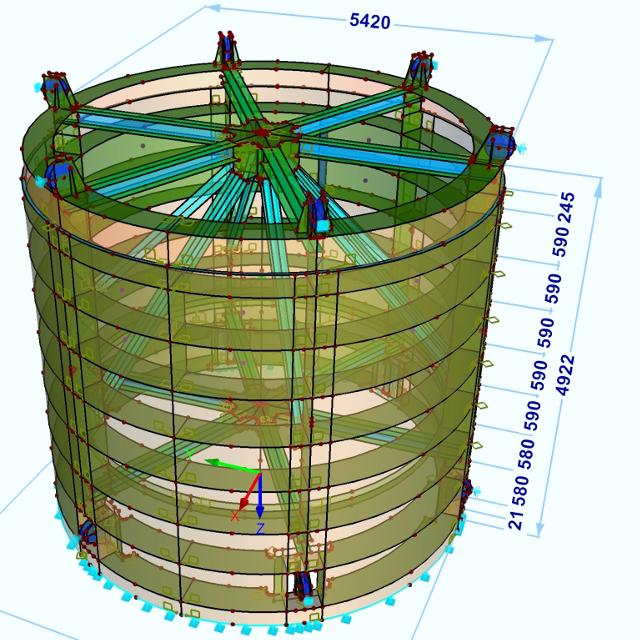 Tragwerksplanung durch die Bau + Plan Ingenieurgesellschaft mbH – Zylinderschütz Koepchenwerk