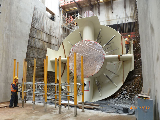 Bau + Plan Ingenieurgesellschaft mbH – Referenz Gars – Turbineneinbau